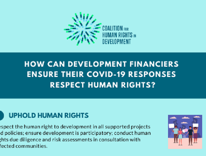 Development finance for Covid-19 crisis should uphold human rights
