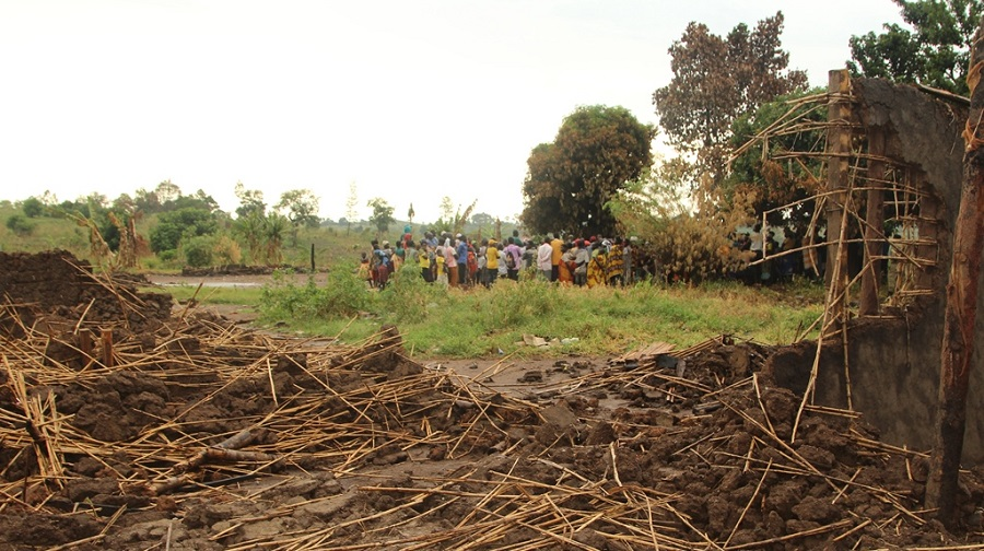 Kyabisagazi village in Hoima district where over 600 families were evicted this year