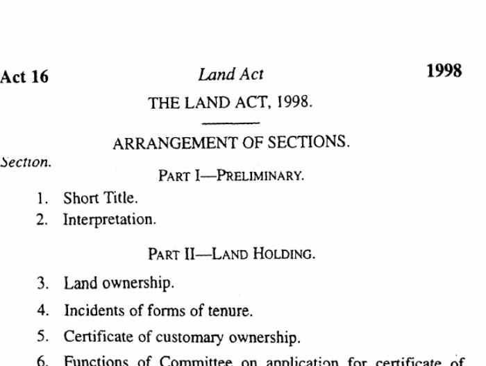 The Land Act 1998: Uganda's 20 year old gambling to Land Ownership
