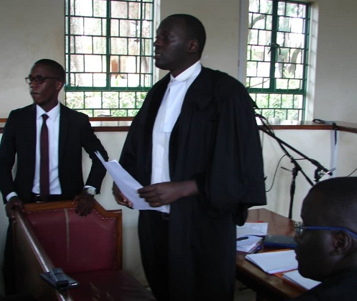 Human rights lawyer Eron Kiiza appears before the police over alleged libel investigations.