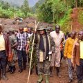 Museveni @Bududa slides