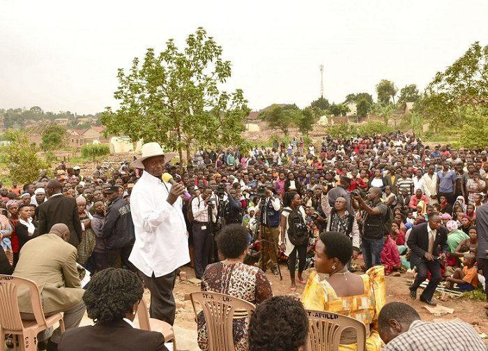 Tears as Museveni halts evictions in Kasangati