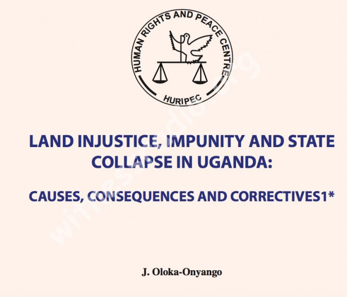 Land crisis in Uganda Is a political issue – A New Report
