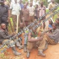 Workers of Formasa armed with pangas and sticks being used to attack residents