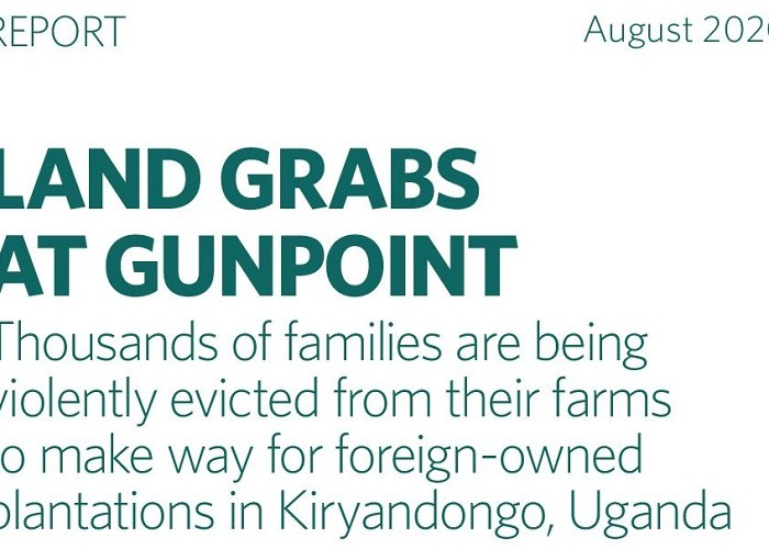 A new report about Kiryandongo forceful land evictions is set to be released on August, 25th, 2020